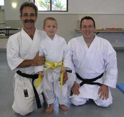 Shotokan Karate Sensei Edmond Otis and Shotokan Karate Sensei Garry Kewish