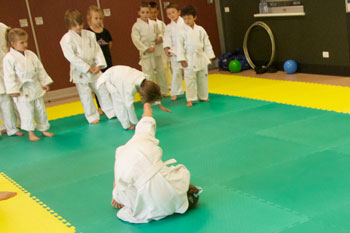 Kids Judo Front Roll Training Wyndham Vale
