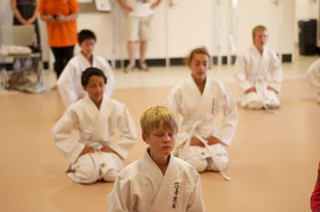 Kids Shotokan Karate Class Finishing