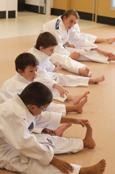 Kids Shotokan Karate Classes Streaching