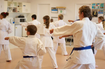 Shotokan Karate Kata Training in Kids Class
