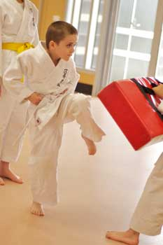 Kids Karate Werribee James Snap Kick
