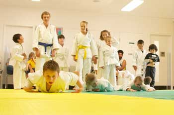 Judo Warm Up Before Easter Break