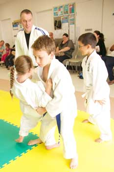 Kids Practice Judo Throw