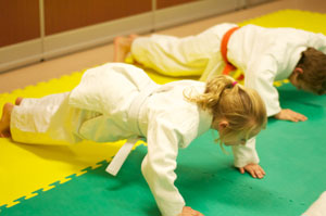 Kodokan Judo Werribee kids push up