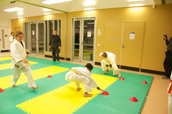 Judo Training Shuttle Runs