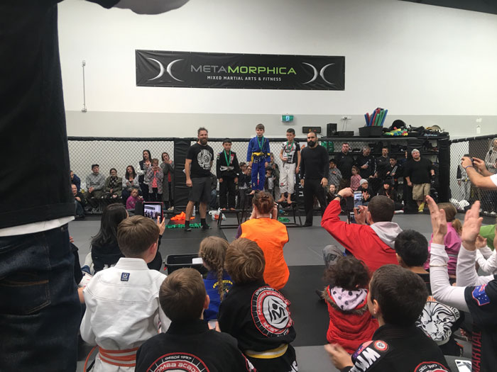 Caleb wins gold for Kaizen Martial Arts at Metamorphica Kids Comp
